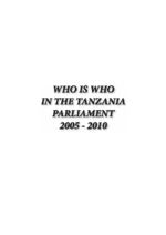 Who is who in the Tanzania Parliament